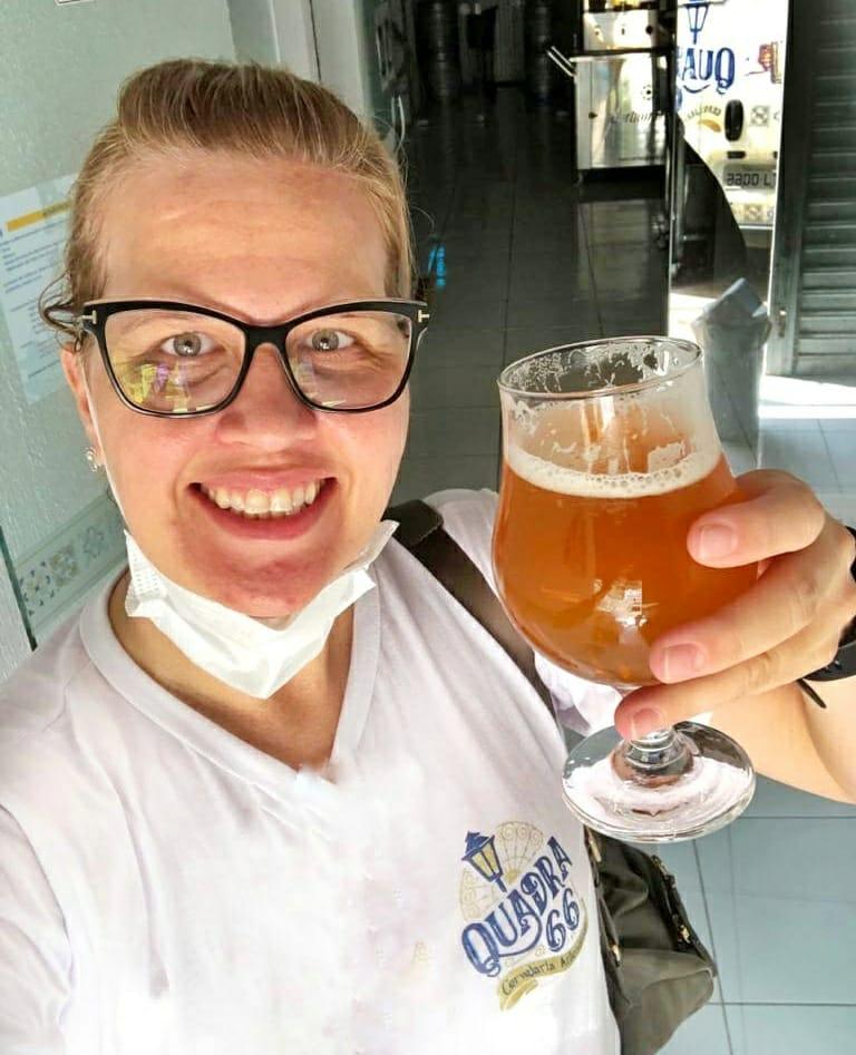 Eliane Silva, diretora executiva da Cervejaria Artesanal Quadra 66